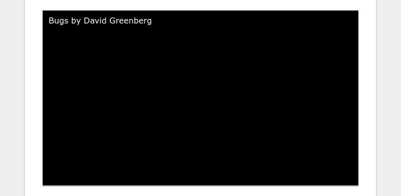 Bugs by David Greenberg