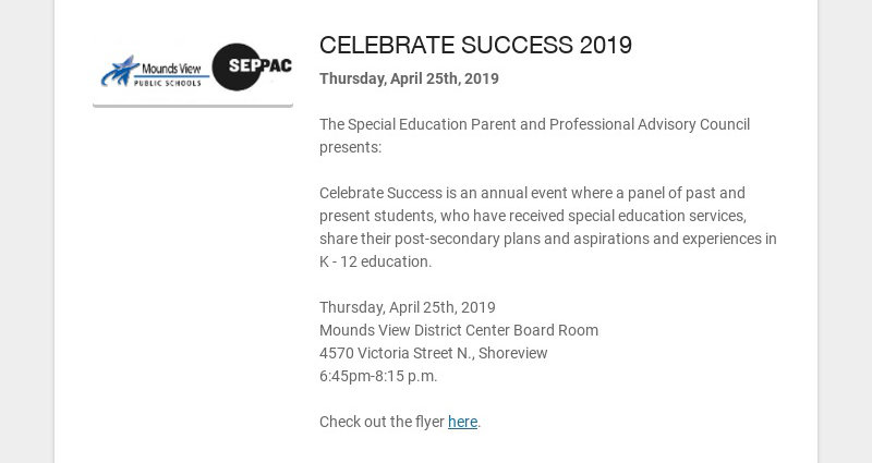 CELEBRATE SUCCESS 2019