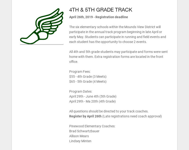 4TH & 5TH GRADE TRACK