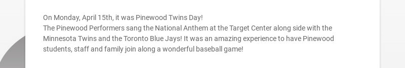 On Monday, April 15th, it was Pinewood Twins Day!