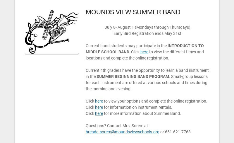 MOUNDS VIEW SUMMER BAND