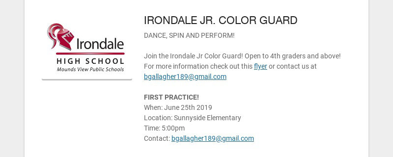 IRONDALE JR. COLOR GUARD