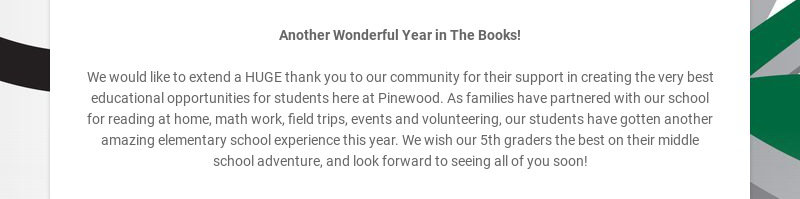 Another Wonderful Year in The Books!