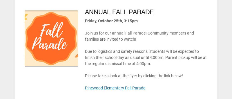 ANNUAL FALL PARADE