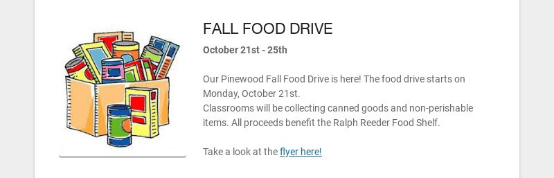 FALL FOOD DRIVE