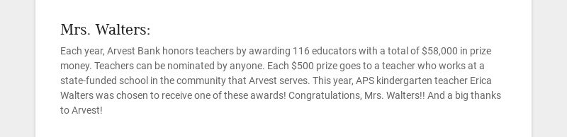 Mrs. Walters: