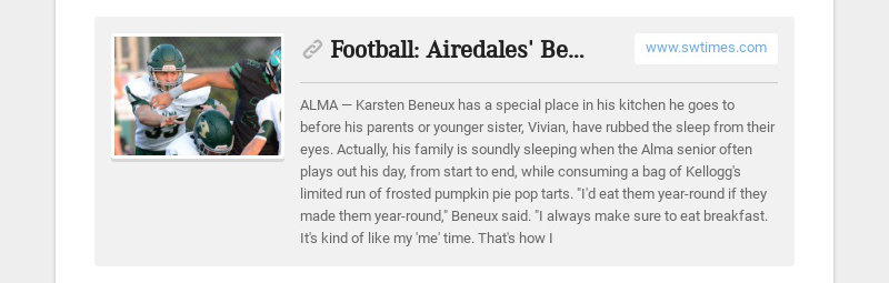 Football: Airedales' Beneux has unique approach, hectic schedule