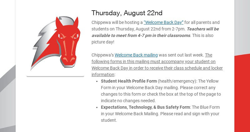 Thursday, August 22nd