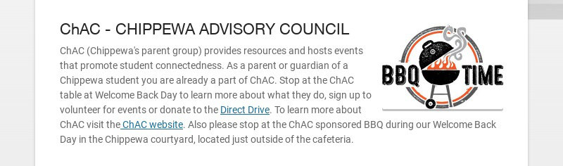 ChAC - CHIPPEWA ADVISORY COUNCIL