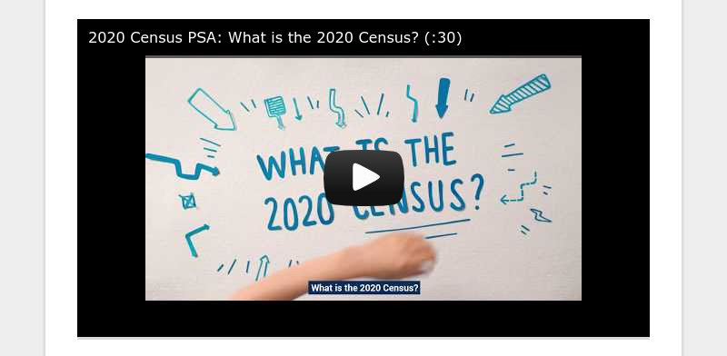 2020 Census PSA: What is the 2020 Census? (:30)