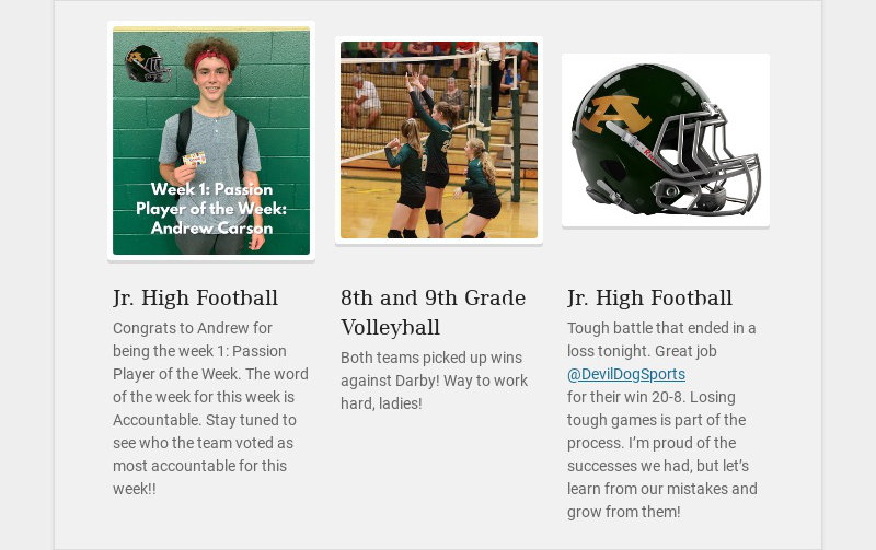 Jr. High Football