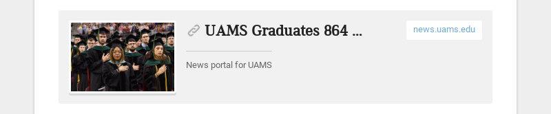 UAMS Graduates 864 Health Care Professionals - UAMS News news.uams.edu News portal for UAMS