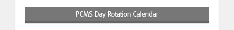 PCMS Day Rotation Calendar