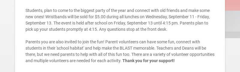 Students, plan to come to the biggest party of the year and connect with old friends and make...