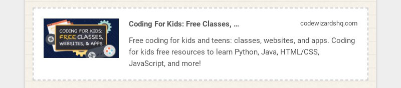 Coding For Kids: Free Classes, Websites, and Apps | Ages 8-18 codewizardshq.com Free coding for...