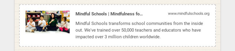 Mindful Schools | Mindfulness for Your Students, Teachers, and School Community...