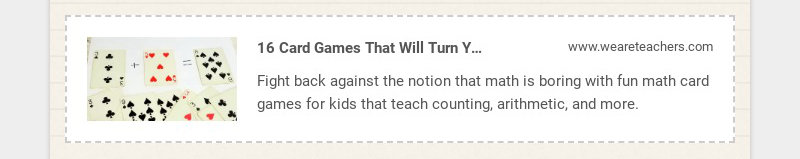 16 Card Games That Will Turn Your Students Into Math Aces www.weareteachers.com Fight back...