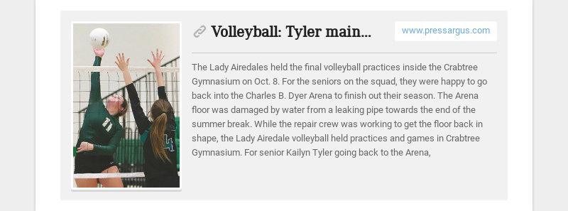 Volleyball: Tyler maintains positive attitude www.pressargus.com The Lady Airedales held the...