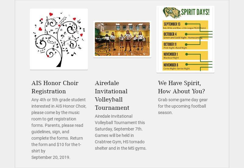 AIS Honor Choir Registration Any 4th or 5th grade student interested in AIS Honor Choir, please...