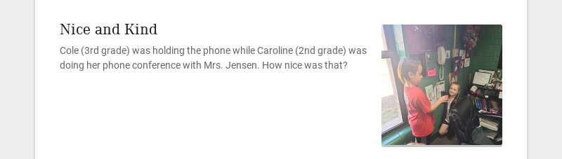 Nice and Kind