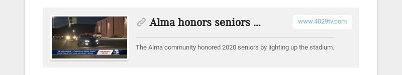 Alma honors seniors by lighting up stadium