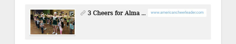 3 Cheers for Alma High School - American Cheerleader Magazine