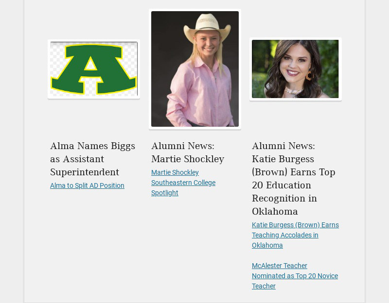 Alma Names Biggs as Assistant Superintendent