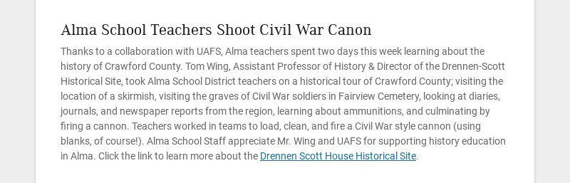 Alma School Teachers Shoot Civil War Canon