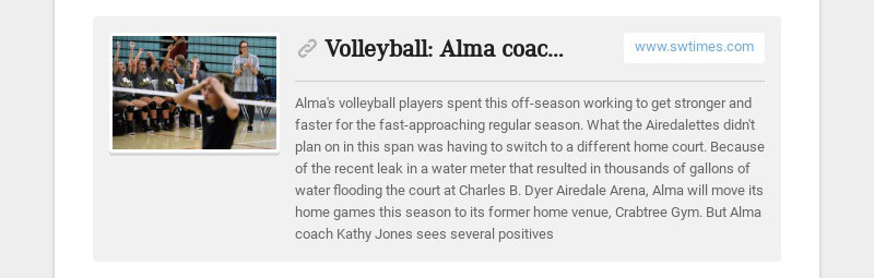Volleyball: Alma coach staying positive as new season approaches