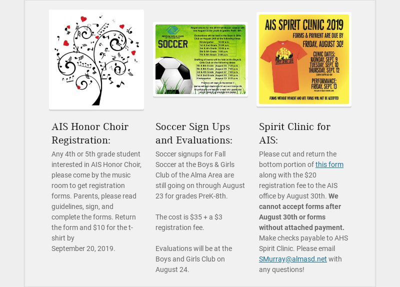 AIS Honor Choir Registration: