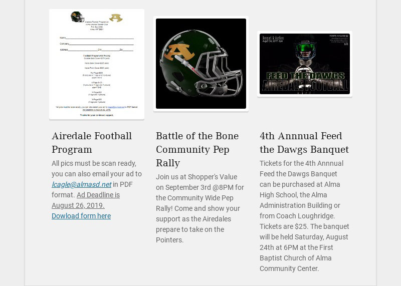 Airedale Football Program