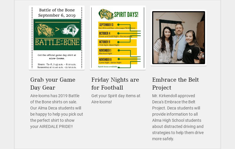 Grab your Game Day Gear