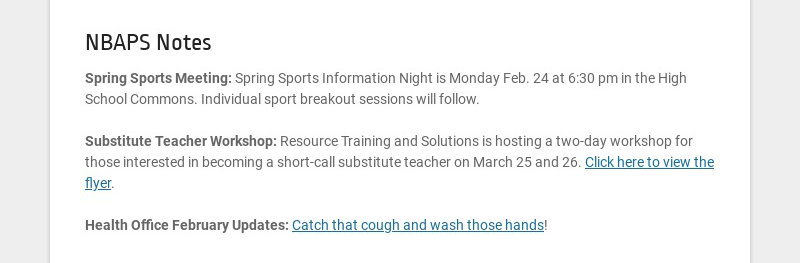 NBAPS Notes