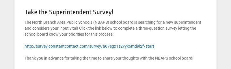 Take the Superintendent Survey!