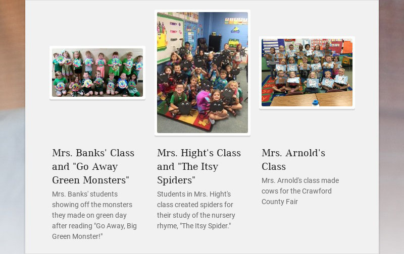 "Mrs. Banks' Class and ""Go Away Green Monsters""