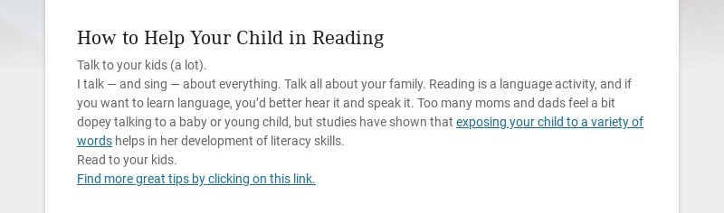 How to Help Your Child in Reading