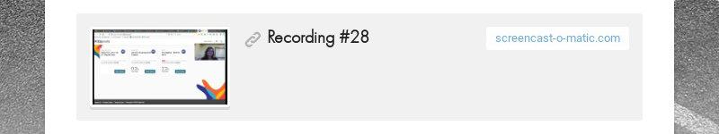 Recording #28screencast-o-matic.com