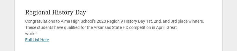 Regional History Day