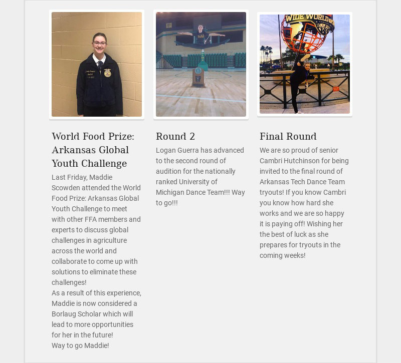 World Food Prize: Arkansas Global Youth Challenge Last Friday, Maddie Scowden attended the World...